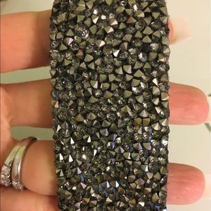 Grey crystal metal bracelet NWT